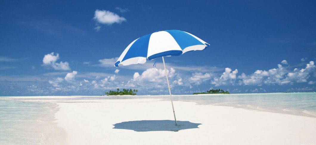 Beach Use Outdoor Fiber Glass Umbrella