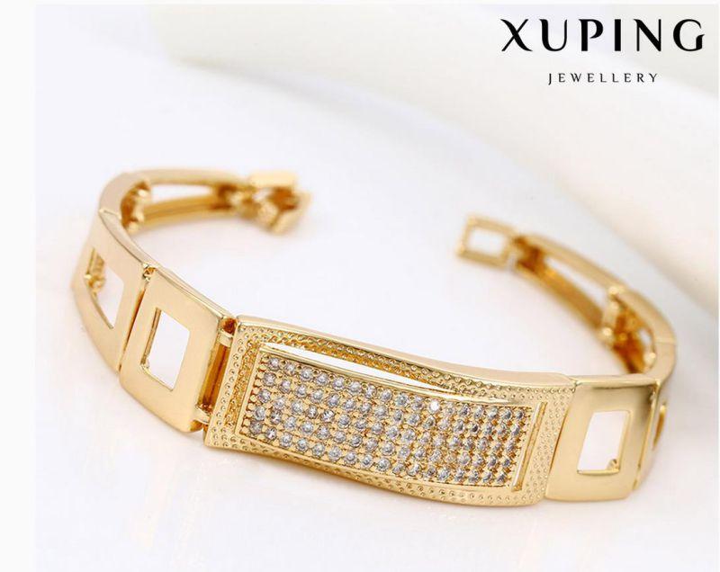 74514 Fashion Elegant CZ 18k Gold-Plated Metal Alloy Jewelry Watch Bracelet