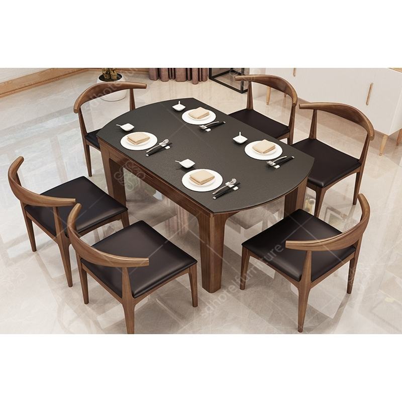 Modern Simple Wooden Dining Table for Used Hotel Furniture Restauant