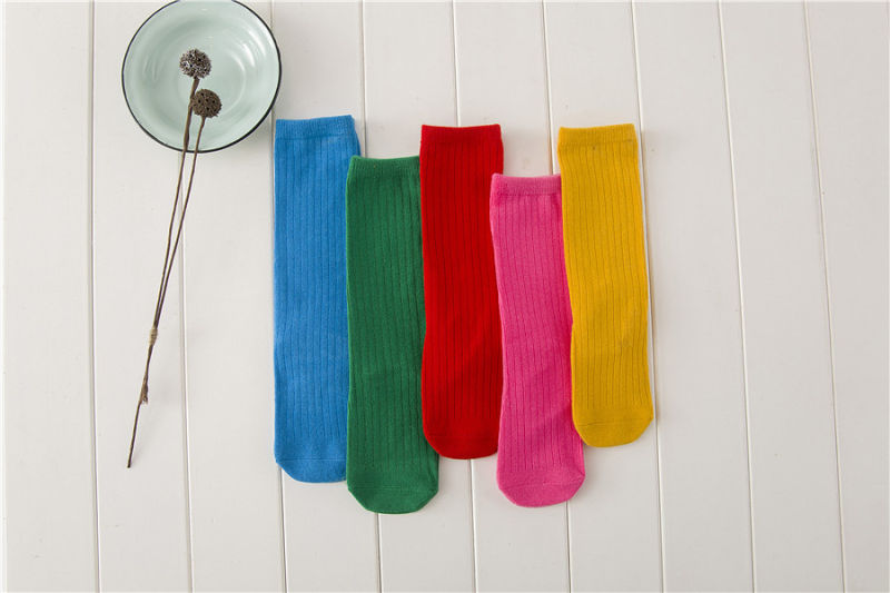 Candy Color Kid Cotton Socks Lovely Girl Striped Stocking