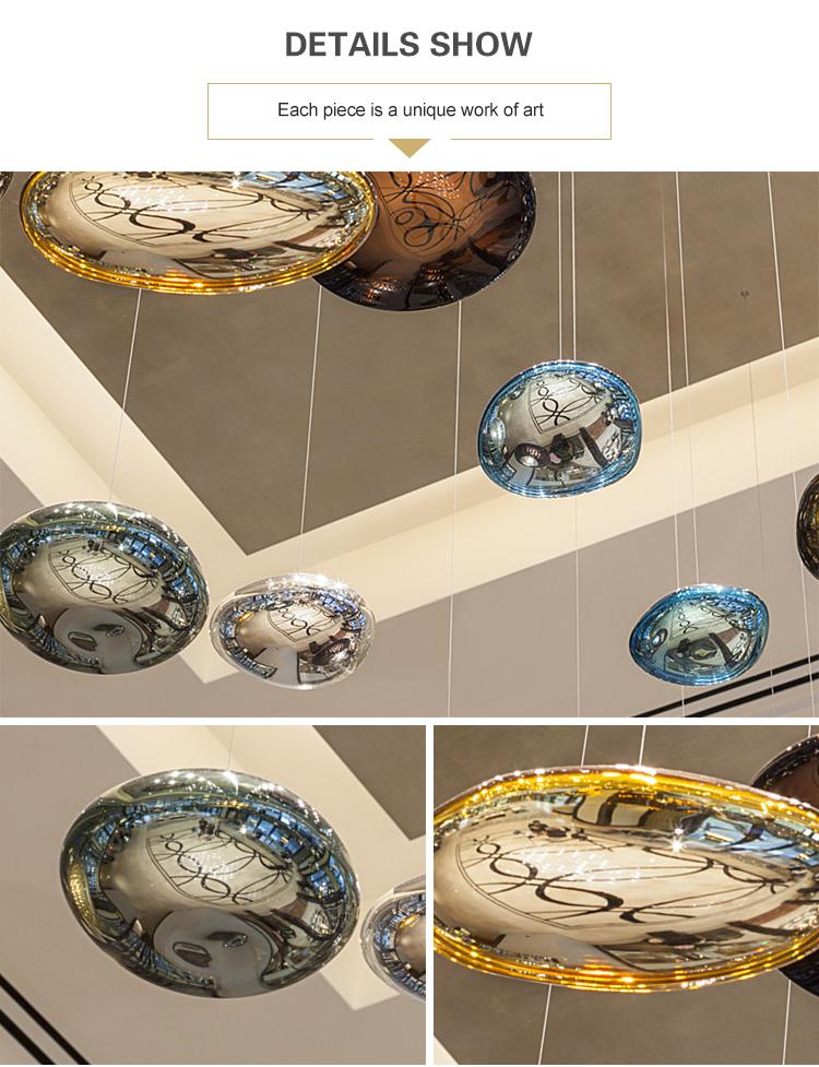 роскошные люстры с хрустальным шаром Проект отеля Современные декоративные потолочные светодиодные люстры