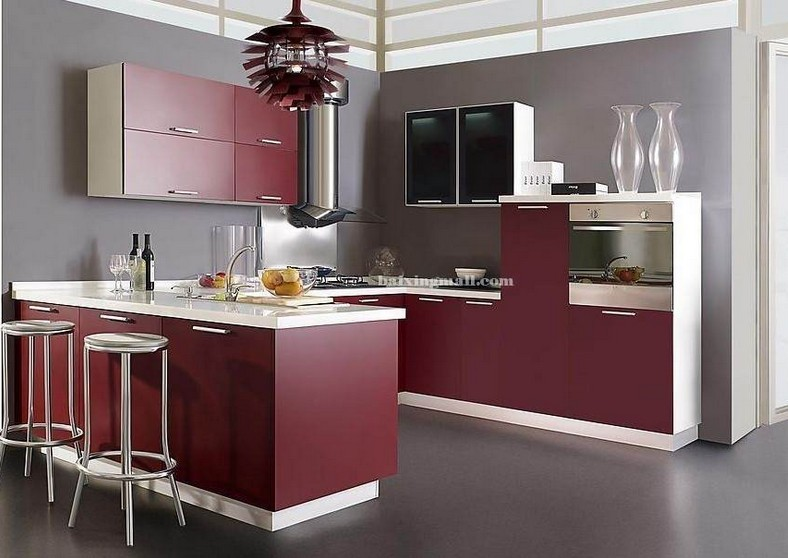 Glossy Wood Cabinet for Home Kitchen Furniture (customzied)