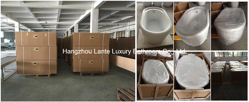 Fashion Design Acrylic Simple Common Bathtub (LT-15T)
