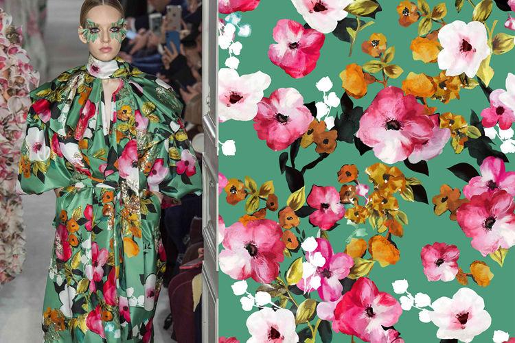 Digital Print Moss Crepe Cloth