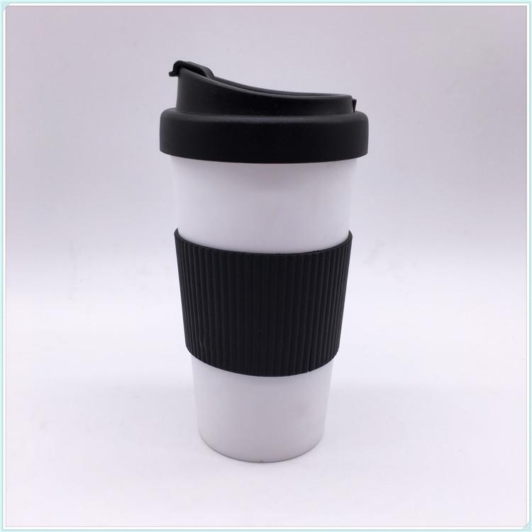 BPA Free Plastic Reusable Coffee PP Mug with Lid