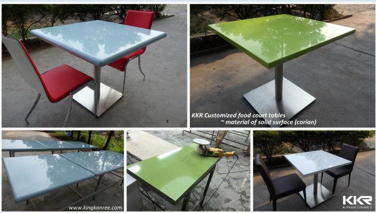 Kingkonree Modern Square Solid Surface Marble Stone Banquet Table