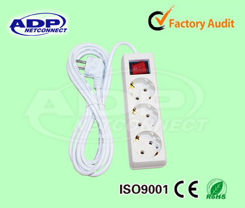 Power Extension Strip, Electrical Socket, European Type