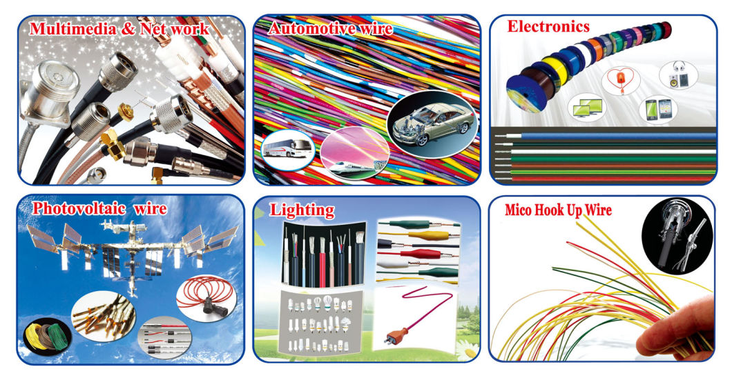 UL2468 10 Wire Rainbow Color Flat Ribbon Wire Cable