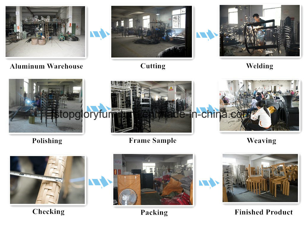 Plastic Wood Dining Set, Garden Dining Set, Plastic Wooden Furniture (TG-1293)