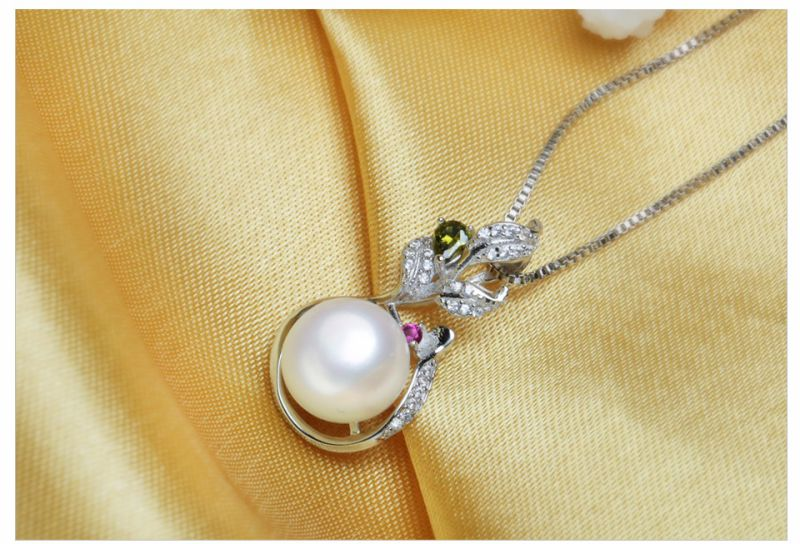AAA 10-11mm 925 Silver Button Freshwater Cheap and Simple Design Pearl Pendant