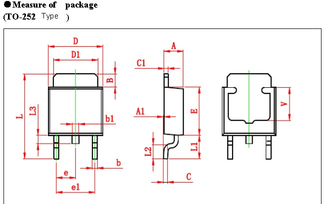 TO-252 Encapsulation Scr Transistor