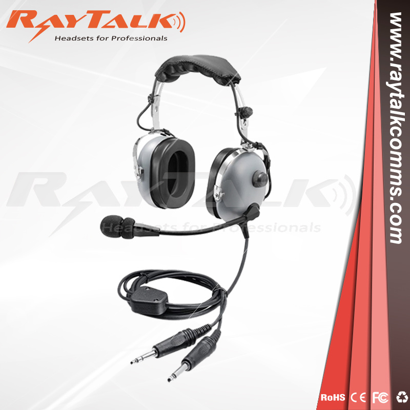 Noise Cancelling Flexible Boom Pnr Pilot Aviation Headset