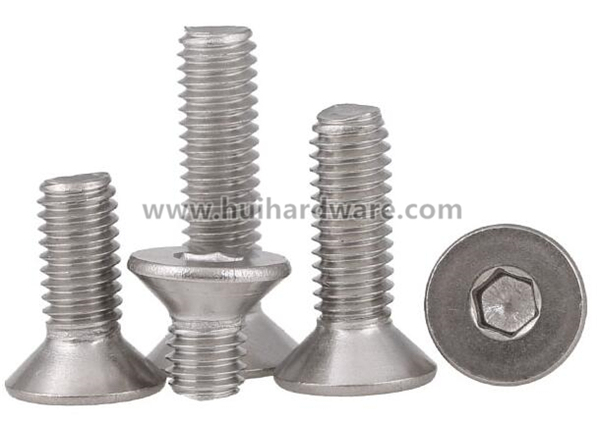 Stainless Steel Hex Socket Countersunk Head Machine Screws (DIN7991)