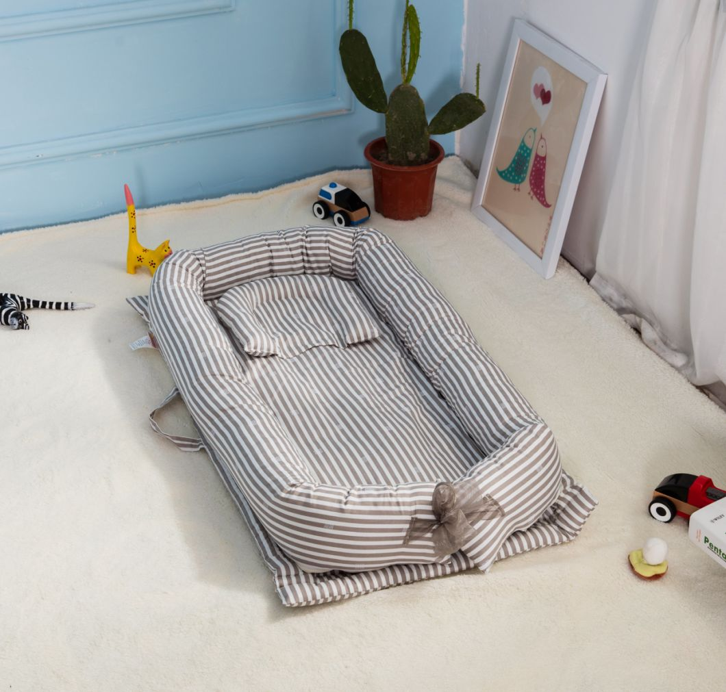 Portable Infant Baby Crib Mattress Kids Travel Crib Bed