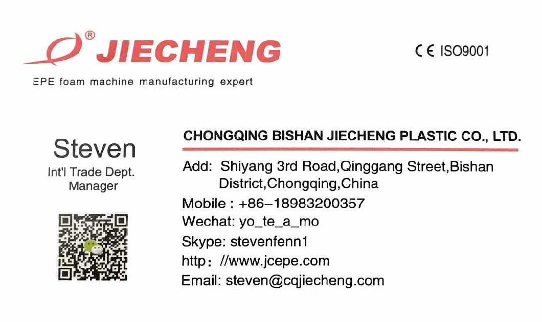 EPE Foam Sheet Film Production Line Jc-200mm Machine Extruder Plastic Machinery Extrusion Manufacturer