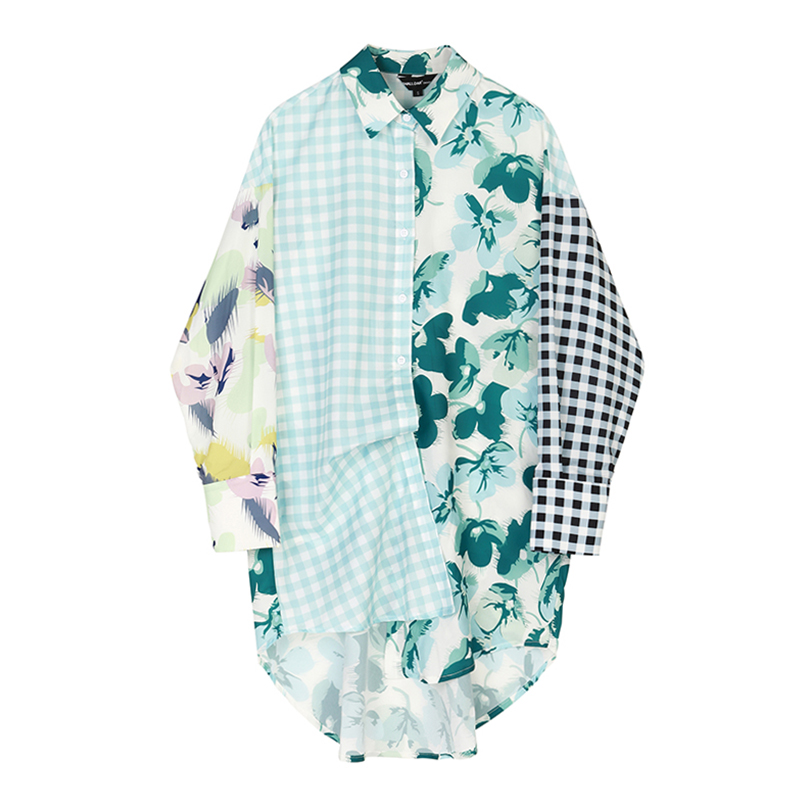 New Design Asymmetric Button Shirt Dresses
