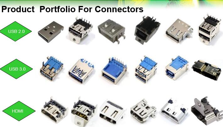 9 Pin USB3.0 Female Connector for The Printer Equipment