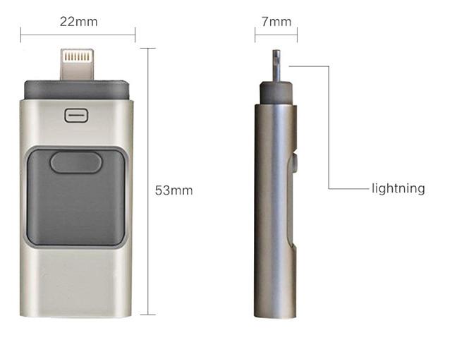 3 in 1 OTG USB Pen Drive 16GB USB Stick Flash Drive for iPhone