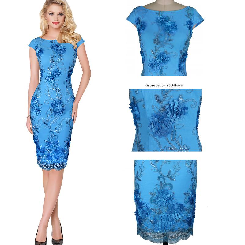 Woman Elegant Sexy Shoulder Front Slit Sheath Fashion Slim Casual Club Party Dress