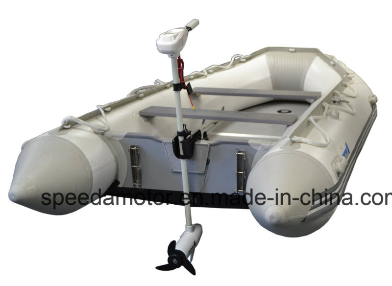 White 46 Pound Thrust Electric Fishing Boat Motor Saltwater