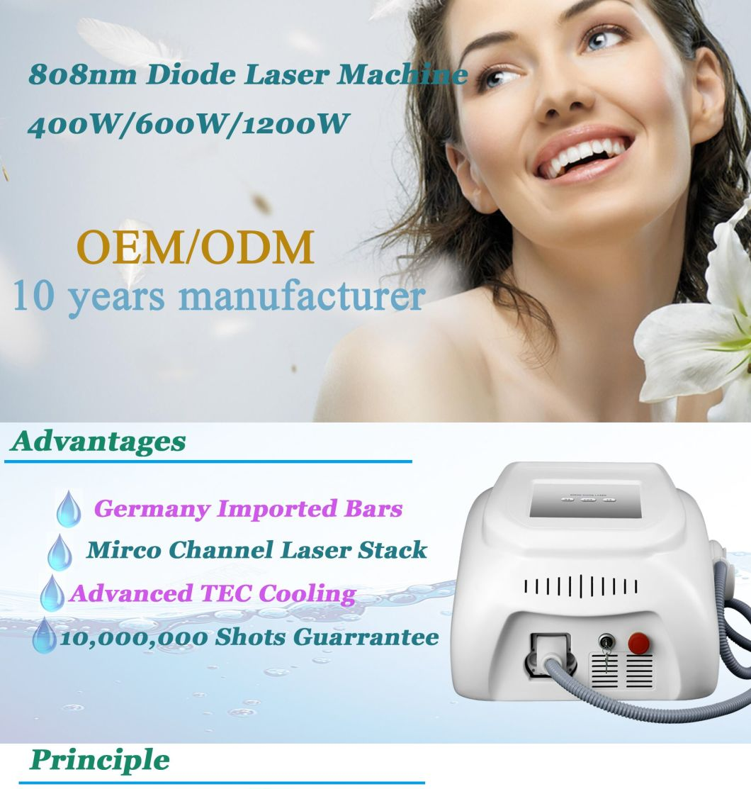 24h Non-Stop Work Professional Hair Removal 808nm Diode Laser