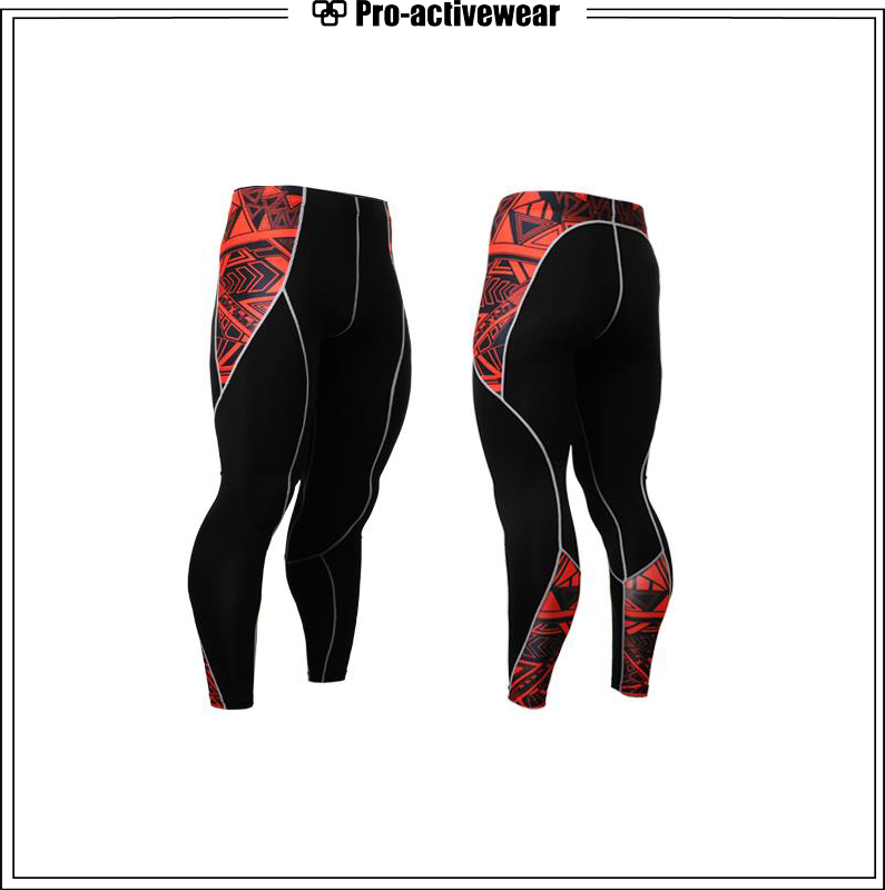 Men Athletic Wear Compression Quickly Dry Sports Workout Tights
