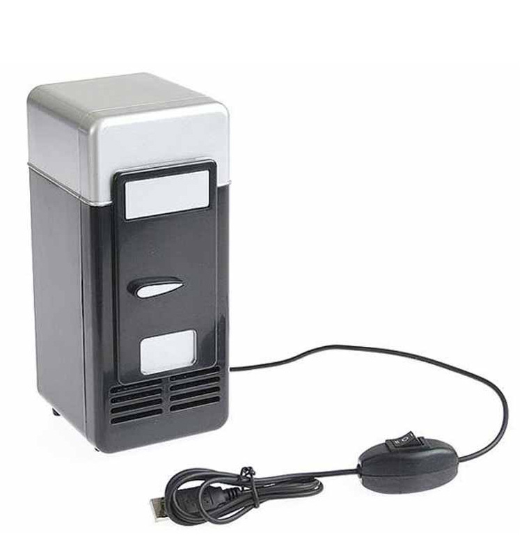USB Electricity Powered Mini Fridge Upright Freeze with LED