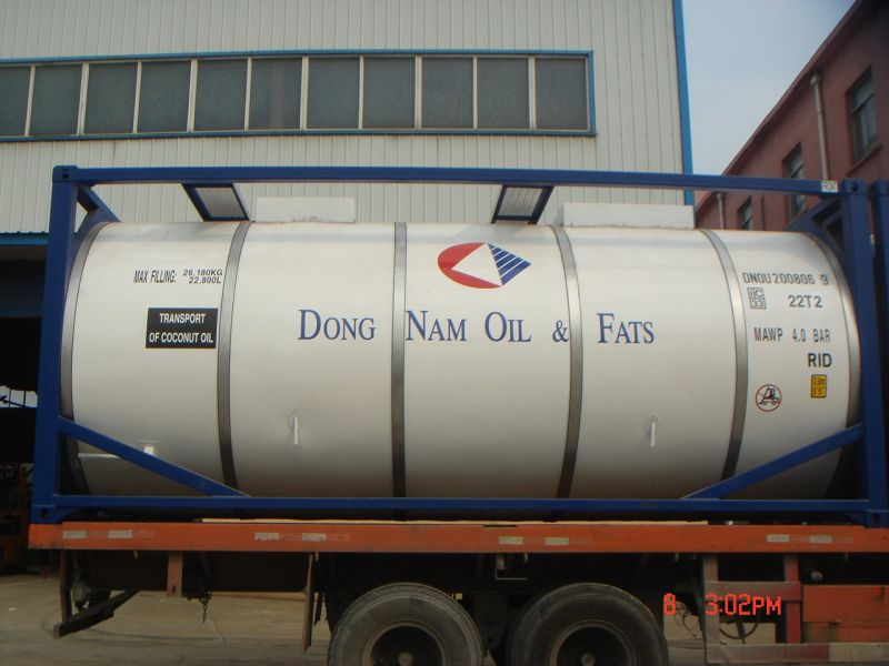 20FT 26000L Stainless Steel Tank Container for Edible Food, Oil, Chemicals, Fuel