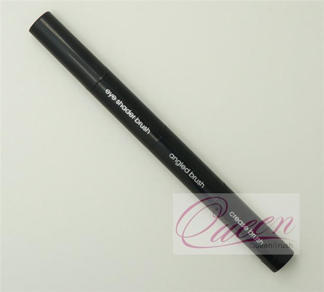 3PCS Black Plastic Handle Synthetic Eyeshadow Brush Kits