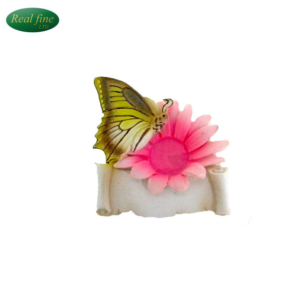 Custom Resin Butterfly and Daisy Fridge Magnets for Souvenir