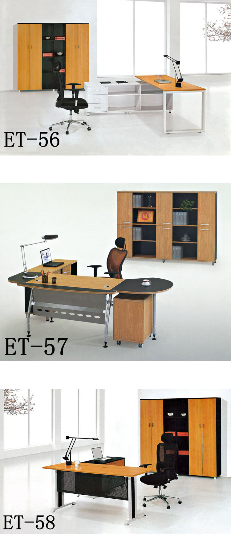 Et-50 Office Desk fashion Modern L Design Boss Manager Office Executive Table