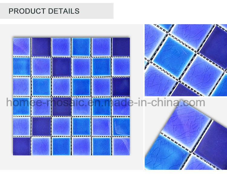 Hot Selling Waterproof Blue Floor Tile Swimming Pool Tile Mosaic