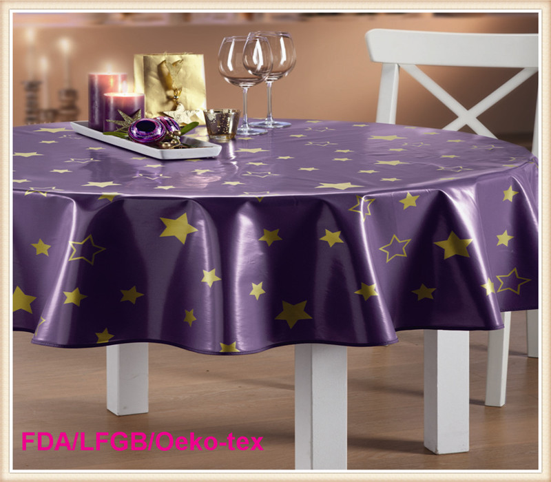 PVC Tablecloth with Nonwoven Backing LFGB Grade