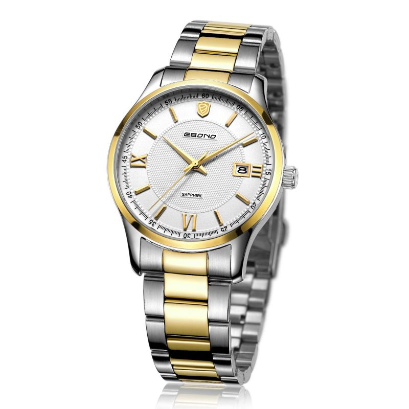 2016 Stainless Steel Quartz Couple Business Wrist Watch