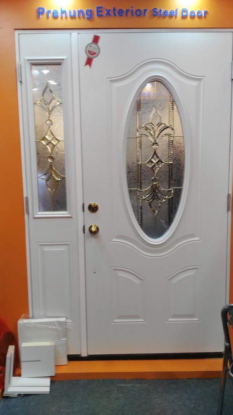 Tempered Glass Inserted Interior Exterior Double Door