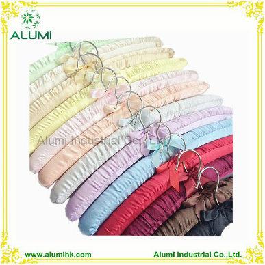 Satin Hanger with Metal Hook Silk Hangers Cotton Hanger