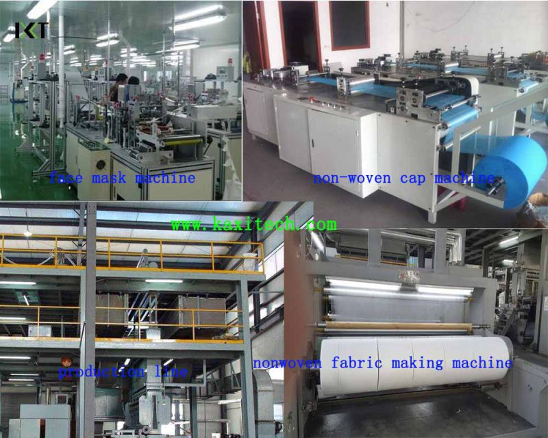 Non Woven Machine for Disposable Face Mask Making Kxt-FKM05 (attached CD)