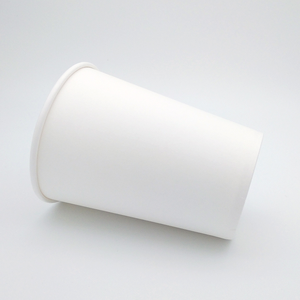 Custom Made Disposable Single Wall Hot Solid Coffee Paper Cup