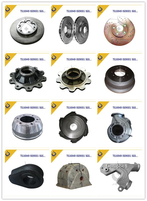 CNC Machining Iron Casting Brake Drum Tractor Parts
