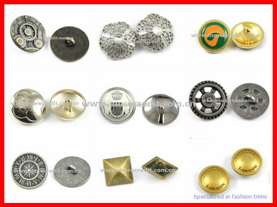 Custom Special Shape Zinc Alloy Sewing Button, Shank Button