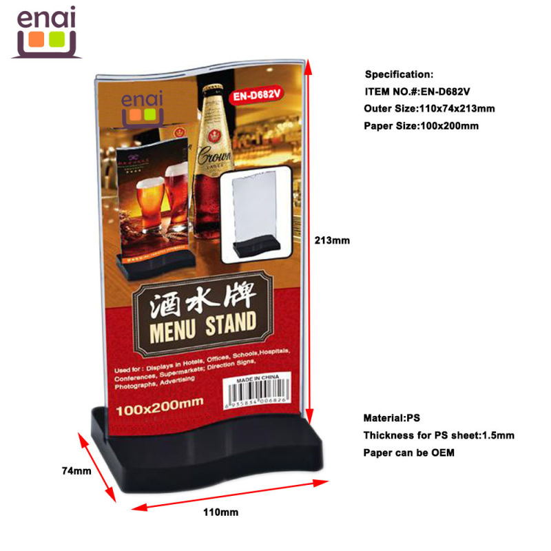 Factory Direct Whole Sell ABS Menu Holder Stand Sign Holer