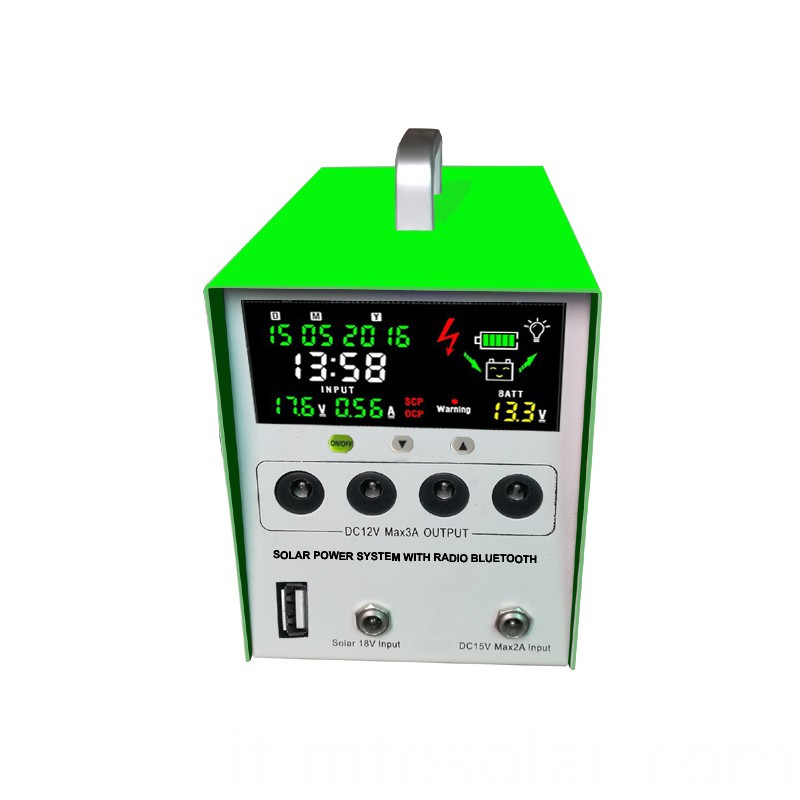 solar power system with LCD screen