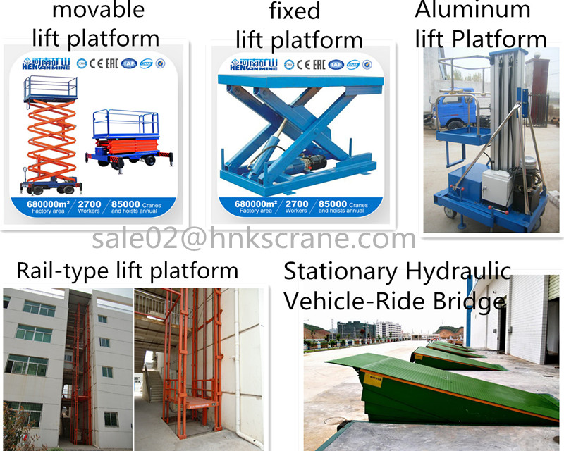 Factory Price Self-Propelled and Mobile Telescopic Hydraulic Working Platform
