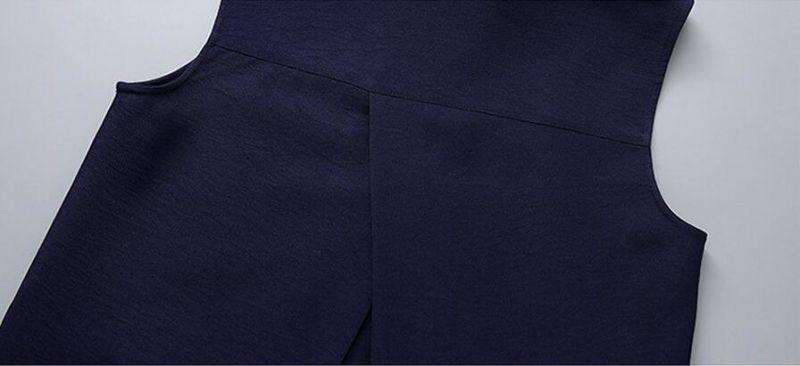 Simple Sleeveless Office Ladies Fashion Dress