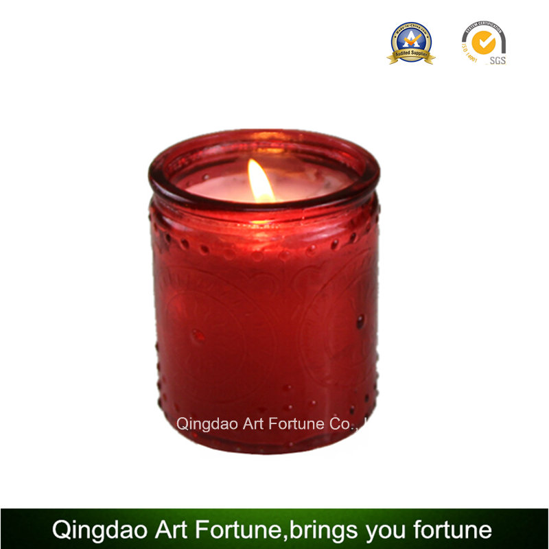 Glass Filled Scented Jar Candle for Hotel Decor