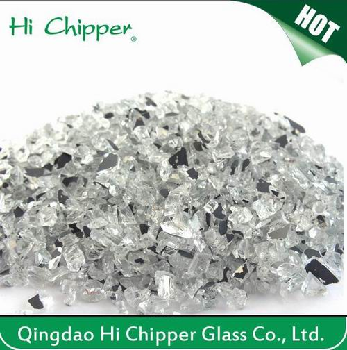 Crushed Black Glass Chips