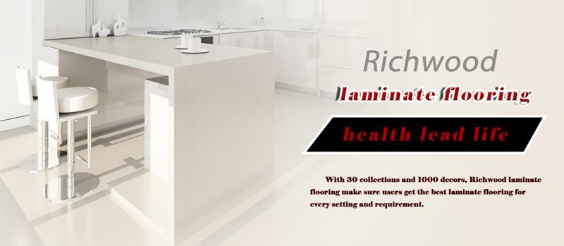 12mm HDF AC4 Hickory V-Grooved Wooden Laminate Flooring