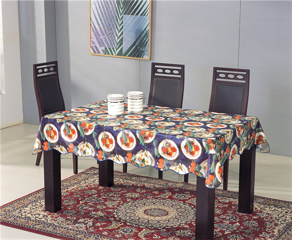Vinyl Picnic Table Cover PVC Printed Transparent Tablecloth