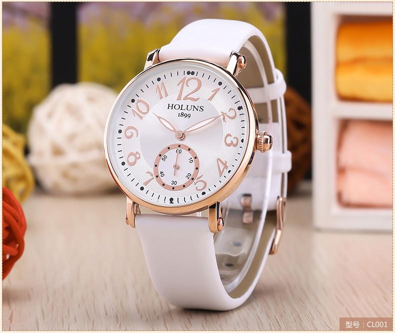 2016 Fashion Big Dial Waterproof Quartz Casual Women Watch, Sapphire Stainless Steel Special Love Gift for Girl Lady