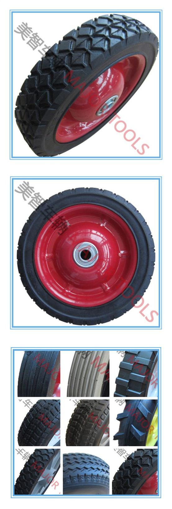 6/7/8/10inch High Standard Rubber Semi-Pneumatic Wheelbarrow Wheel